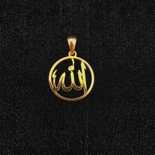 21K Allah Pendant